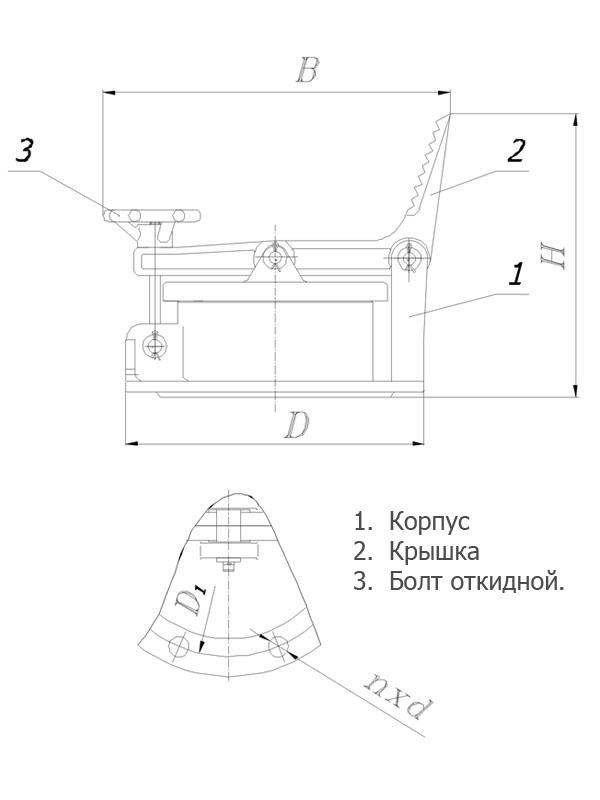 Люк замерный Л3-150 А | резервуарное оборудование