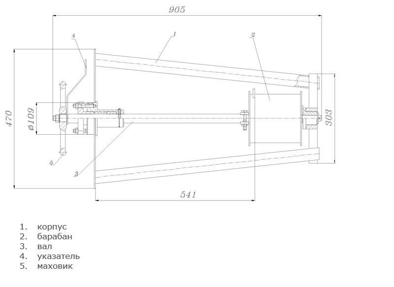 Механизм управления хлопушкой, боковой МУ-2 для ХП-250, 300, 350
